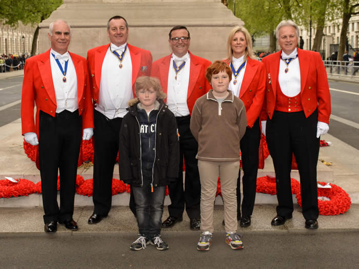 English Toastmasters at The Cenotaph with The Royal Society of St. George