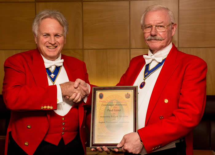 Paul Grant Toastmaster based in Hampshire with Richard Palmer from Essex