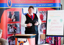 Toastmaster training course at our school for toastmasters