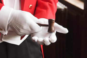 toastmaster red tail coat gavel