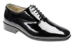 Patent leather formal dress shoes as worn by the British Army, RAF and Navy officers whilst in Mess Dress Unifor.