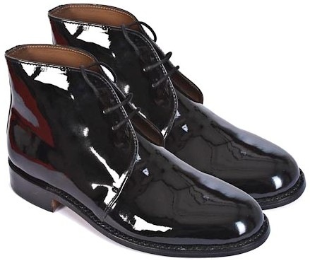 Patent leather George Style Boots