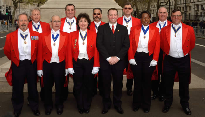 Member toastmasters from the English Toastmasters Association at The Cenotaph April 2016