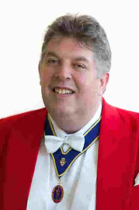 English Toastmaster Russell Rainger