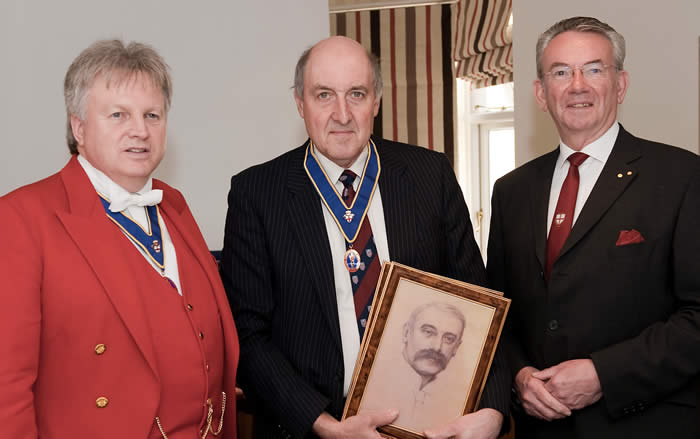 Toastmaster Training Presentation to Mr Patrick Stevenson of a pencil drawing of William Knightsmith