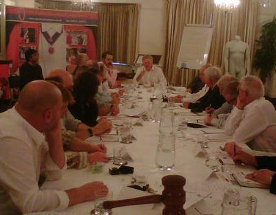 Toastmaster training meeting for members of The English Toastmasters Association
