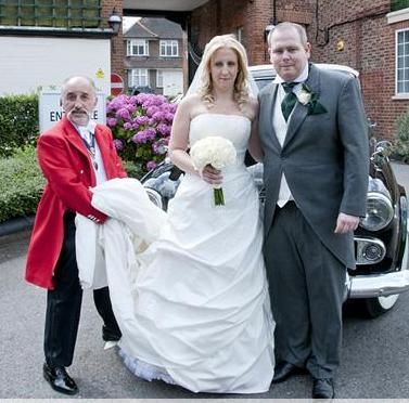 North London Wedding Toastmaster Marco with Bride and Bride Groom