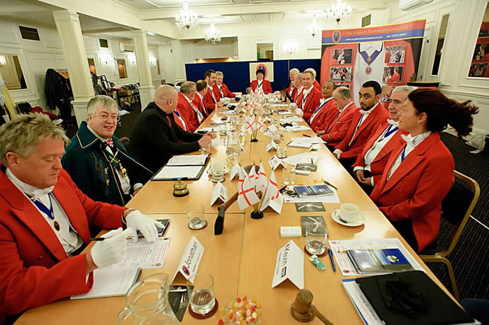 Toastmaster Training at the English Toastmasters Association St George's Day Meeting 2012