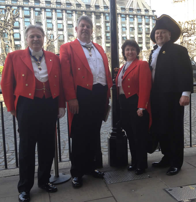 The English Toastmasters Association visit Westminster to celebrate St. George's Day