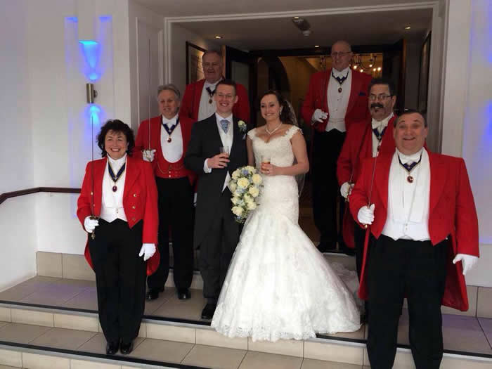 Wedding toastmasters from The English Toastmasters Association at The Sandbanks Hotel for a member toastmaster on his wedding day