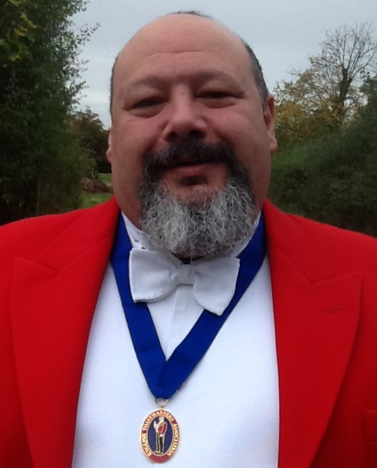 London and southern counties toastmaster and master of ceremonies Trevor Carpenter