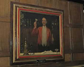 William Knightsmith Toastmaster from a picture that used to hang in the Tudor Suite at the Cafe Royal, London