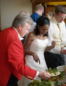 Essex Wedding Toastmaster assists bride with her wedding breakfast in the Rosewood Room at Stock Brook Golf and Country Club, Billericay, Essex