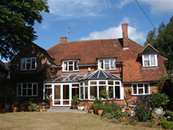 Rear view of Wych Elm Bed & Breakfast in Danbury, Chelmsford, Essex