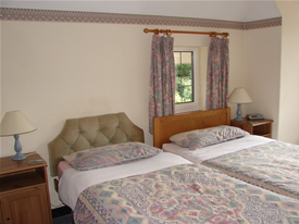 Twin Beds at Wych Elm B&B in Danbury, Essex